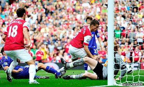 Laurent Koscielny scores Arsenal's opener