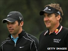 Paul Casey (l) and Ian Poulter