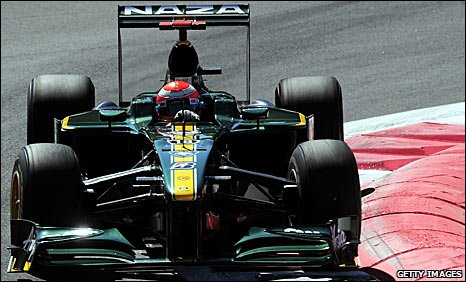 A Lotus car driven by Jarno Trulli