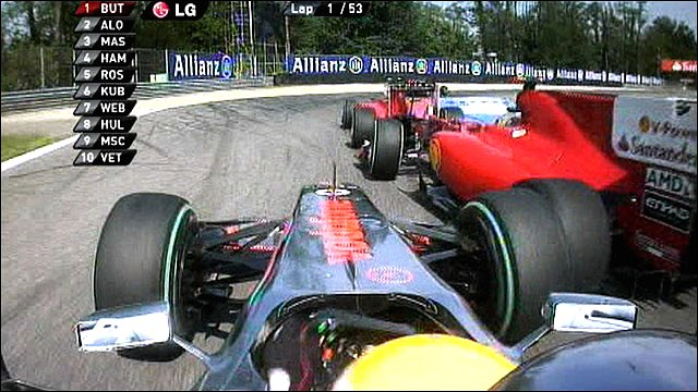 McLaren's Lewis Hamilton makes contact with Ferrari's Felipe Massa