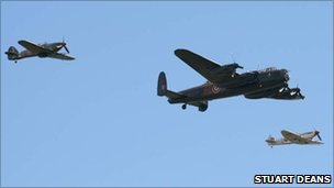 Hurricane, Lancaster and Spitfire
