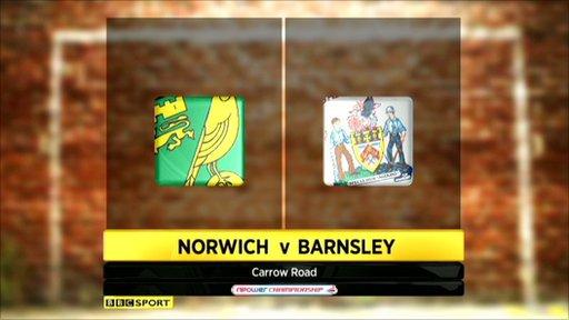Norwich 2-1 Barnsley
