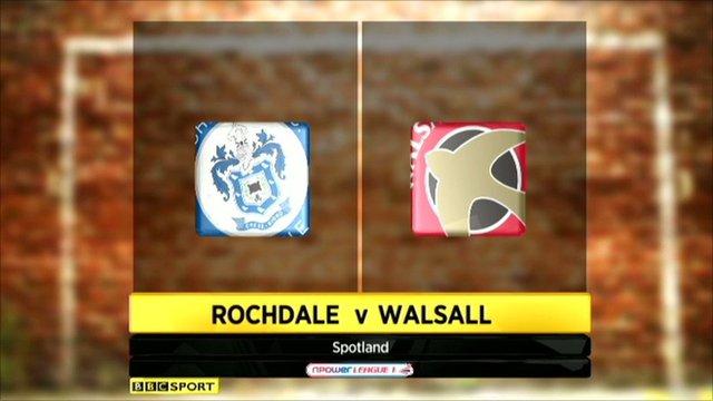 Rochdale 3-2 Walsall