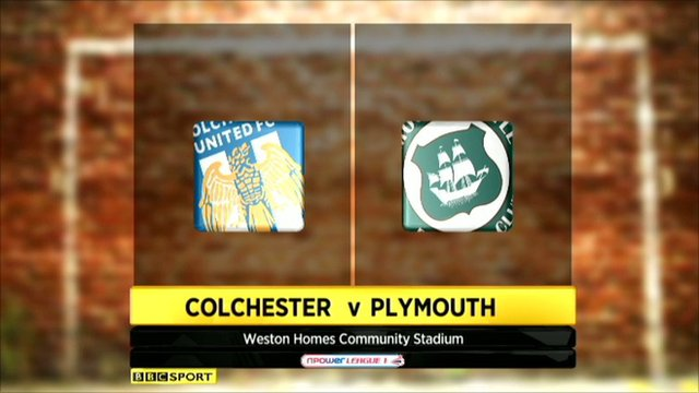 Colchester 1-1 Plymouth
