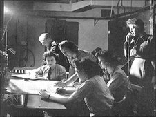 Inside a radar station in WWII