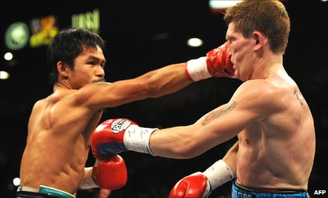 Manny Pacquiao (left) and Ricky Hatton