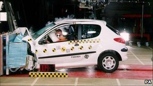Peugeot 206 crash test