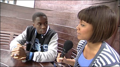 Leah talks to Tinchy Stryder