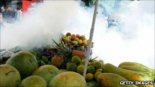 Fumigating a market (Getty Images)