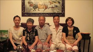 Yan Yunying (left) and her family