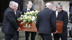 Sir Cyril Smith's coffin