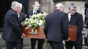 Sir Cyril Smith's coffin
