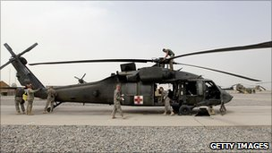 US Black Hawk helicopter