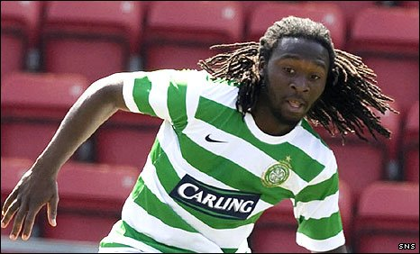 Evander Sno in action for Celtic