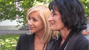 Ursula Biondi (left) and Gina Rubeli today