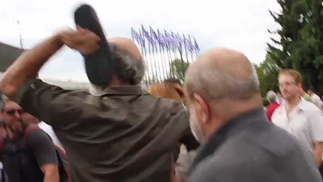 Greek shoe thrower