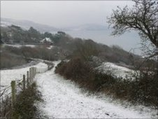 Snow in Lyme Regis, Feb 2010