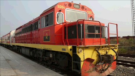 A diesel locomotive