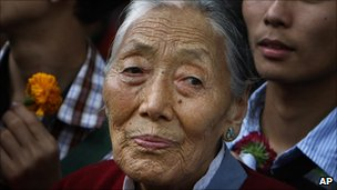 Elderly Tibetan lady