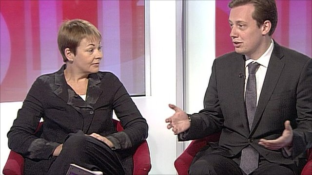 Caroline Lucas and Matthew Sinclsir