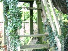 Tree house steps
