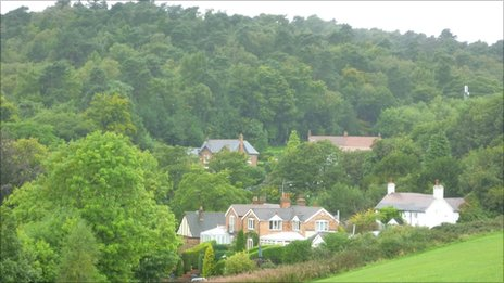 A view of the homes that overlook Cofton Park where the Pope is due to lead Mass on 19 September