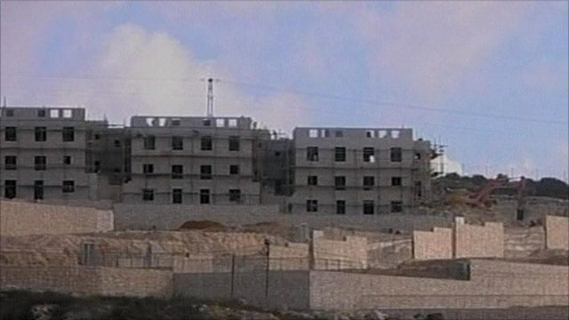 Settlements being built in Palestinian territory
