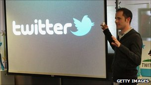 Twitter chief Evan Williams announces the newly revamped Twitter website