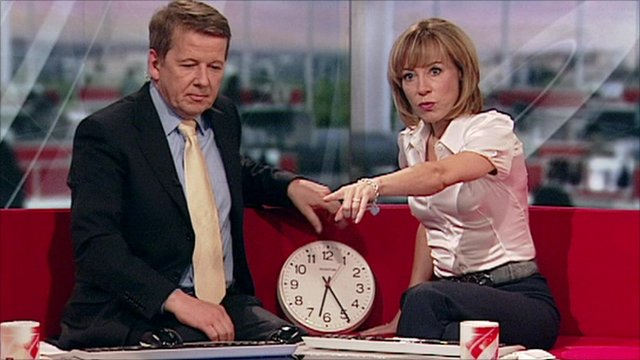 Bill and Sian with clock