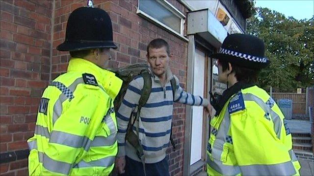 Nottinghamshire police on duty
