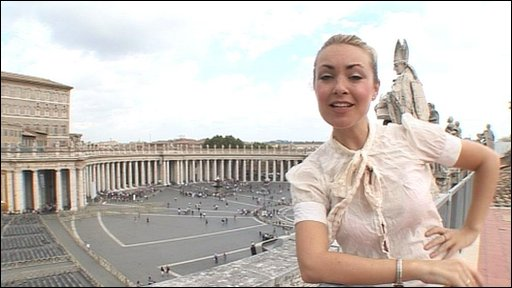 Hayley at the Vatican City