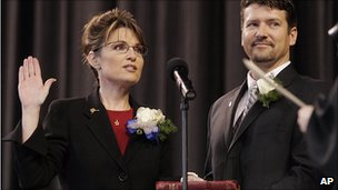 Sarah Palin is sworn in as governor (2006)