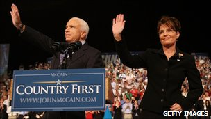 John McCain and Sarah Palin (August 2008)