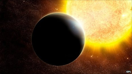 An artist's impression of an exoplanet