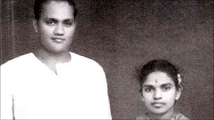 Appapillai Amirthalingam (left) and his wife Mangayarkarasi