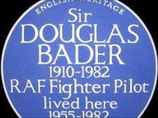 Douglas Bader plaque