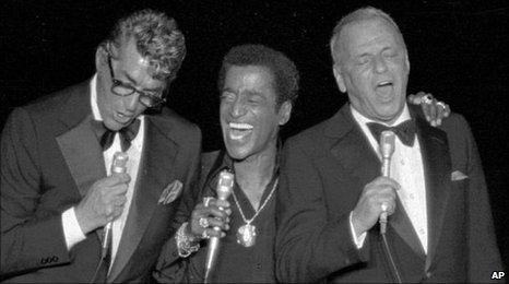 Dean Martin (L), Sammy Davis junior (C) and Frank Sinatra (R)