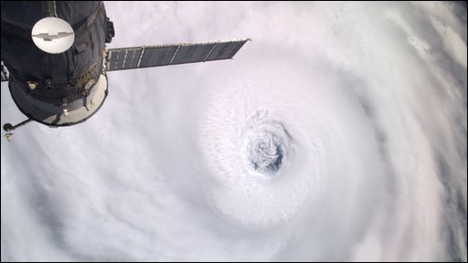 A photo of hurricane Igor from the International Space Station