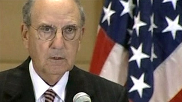 US envoy to the Middle East, George Mitchell