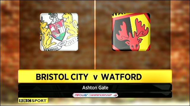 Bristol City 0-2 Watford