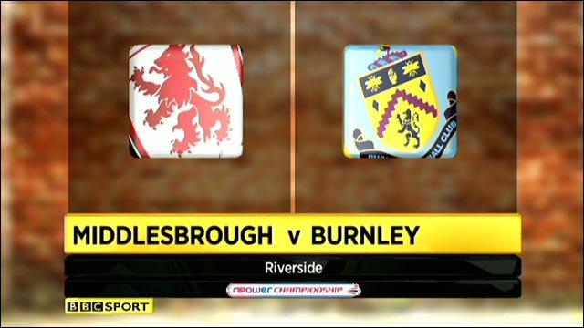 Middlesbrough v Burnley