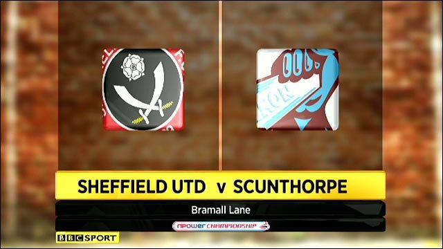Sheffield United v Scunthorpe