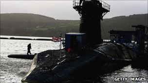 One of the UK&#039;s Vanguard submarines
