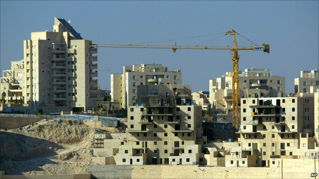 Construction on Israeli settlement in the West Bank