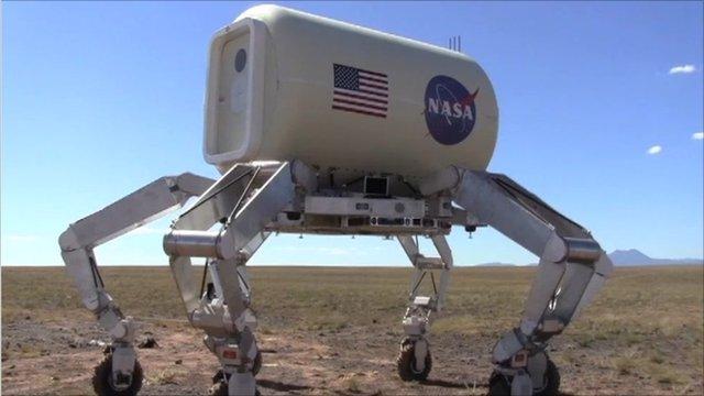 Athlete, the six-legged Nasa vehicle, being tested in Arizona