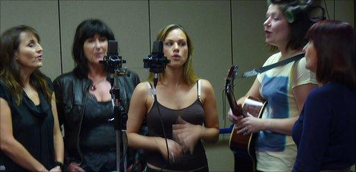 The Harmonies in the Today studio