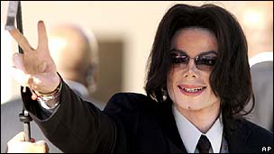 Michael Jackson, pictured in 2005
