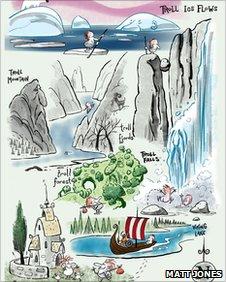 Troll Journey illustration by Matt Jones