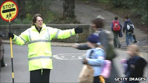 A school crossing patrol
