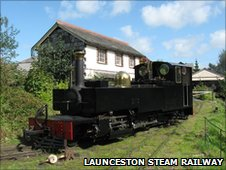 The brand new steam locomotive